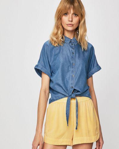 Блузка с коротким рукавом хлопковая свободного кроя Only