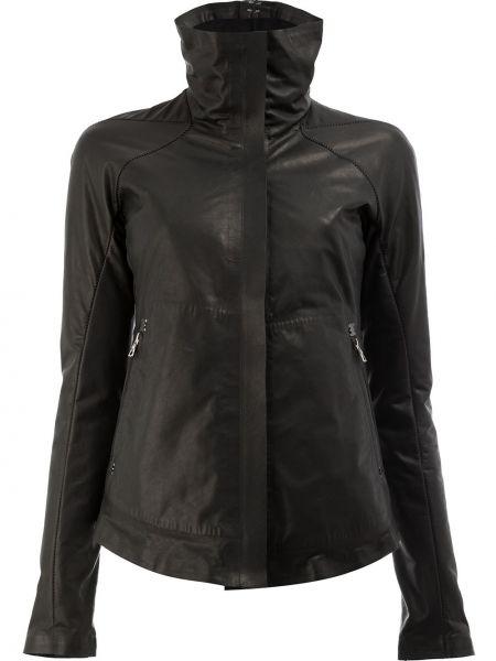 Приталенная черная кожаная куртка Isaac Sellam Experience