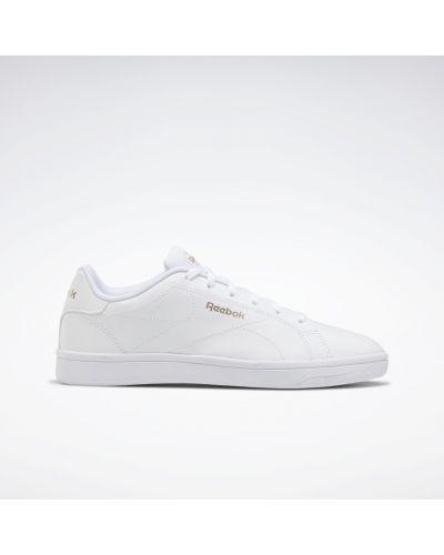 Кожаные белые кроссовки для полных Reebok