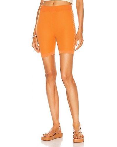 Pomarańczowe szorty bawełniane Nagnata