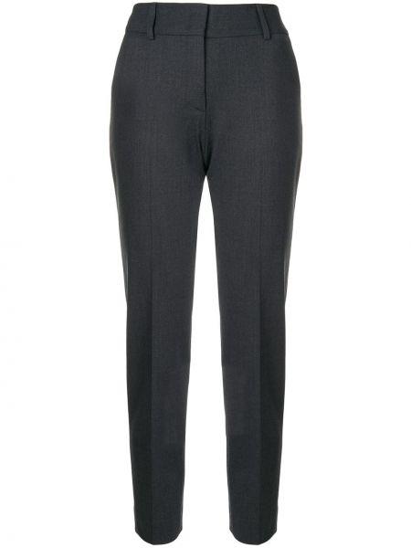 Шерстяные серые зауженные брюки Piazza Sempione