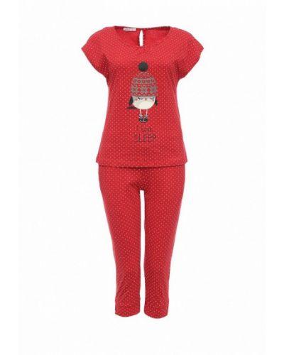Красная пижама Oodji