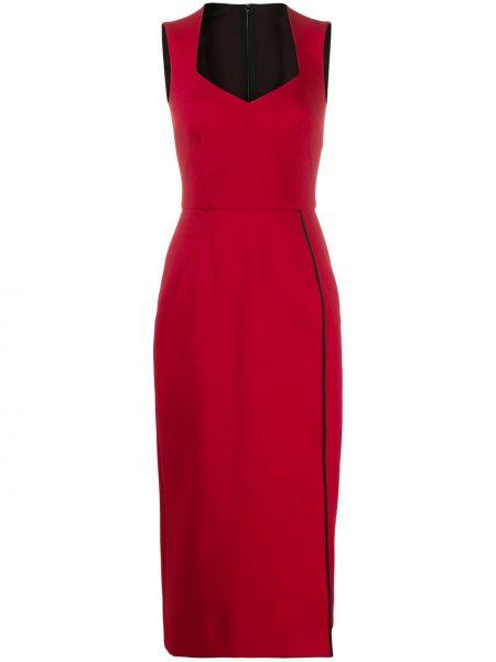 Приталенное красное платье без рукавов Dolce & Gabbana