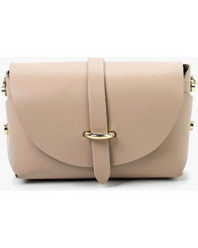 Кожаная сумка через плечо бежевый Roberta Rossi