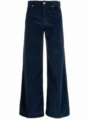 Классические брюки - синие Pt01