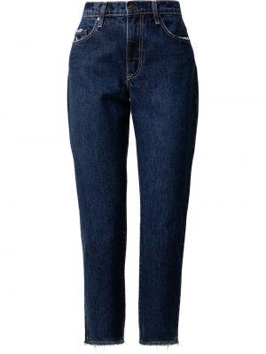 Хлопковые синие прямые джинсы классические Nobody Denim
