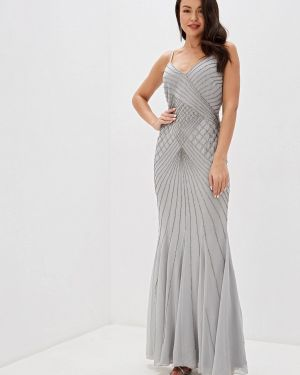 Вечернее платье серое осеннее Goddiva