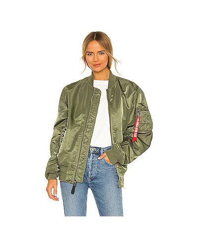 Зеленая с рукавами водонепроницаемая куртка Alpha Industries