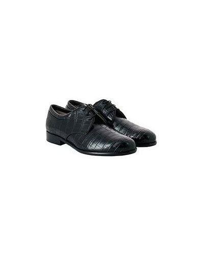 Повседневные кожаные черные дерби Castello D'oro