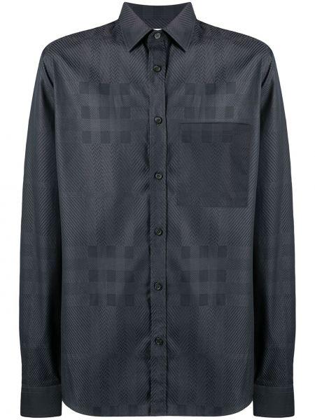 Bawełna z rękawami klasyczna koszula z kołnierzem z kieszeniami Burberry