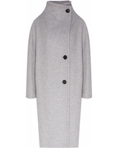 Пальто серое пальто-халат Maje