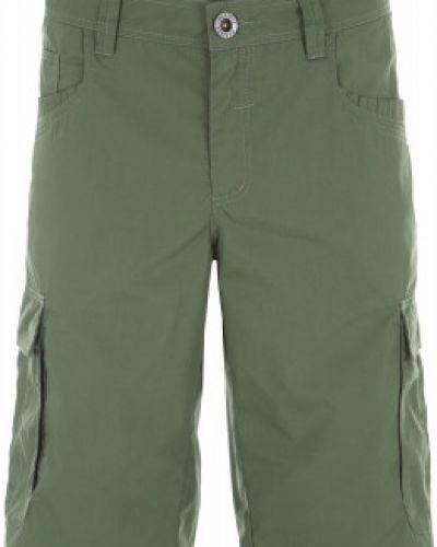 Пляжные шорты зеленый с карманами Exxtasy