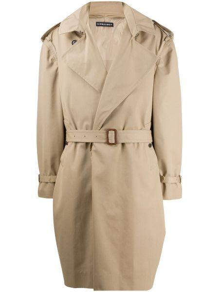 Хлопковое длинное пальто с капюшоном на пуговицах Y/project