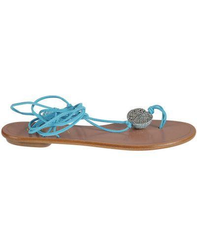 Niebieskie sandały Aquazzura