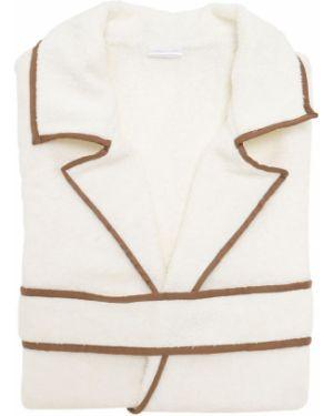 Biały szlafrok bawełniany Alessandro Di Marco