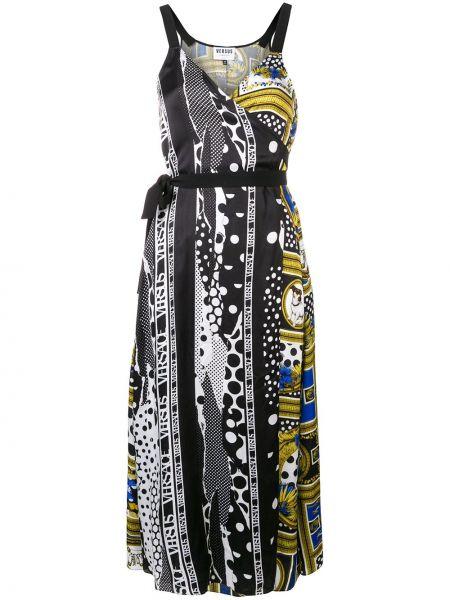 Платье миди с запахом с V-образным вырезом Versus