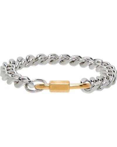 Bransoletka łańcuch srebrna - biała In Gold We Trust Paris