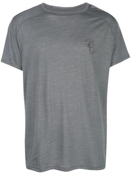 Шелковая футболка - серая Klättermusen