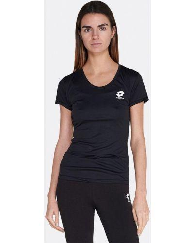 Черная спортивная футболка Lotto