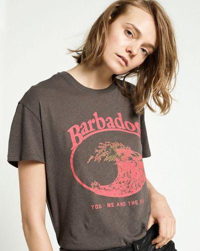 Хлопковая футболка - коричневая Zoe Karssen