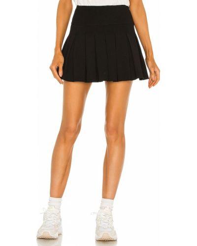 Текстильная плиссированная черная юбка Lovers + Friends