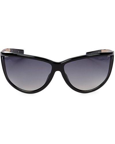 Солнцезащитные очки металлические - черные Tom Ford