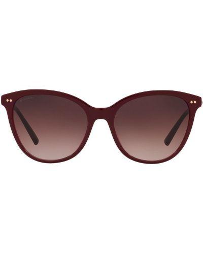 Красные солнцезащитные очки с заклепками Bvlgari