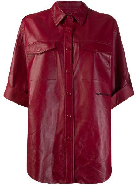 Рубашка с коротким рукавом с карманами свободного кроя Karl Lagerfeld