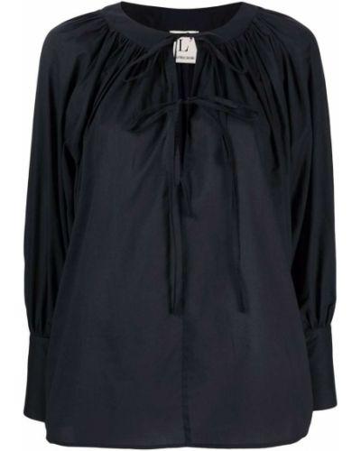 Черная блузка с завязками с вырезом Lautre Chose