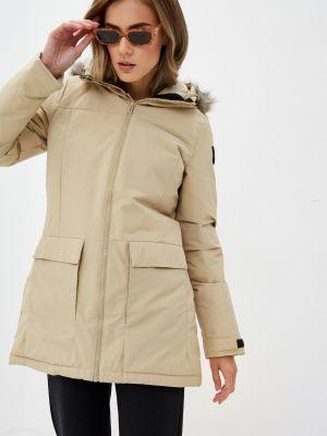 Утепленная бежевая куртка Adidas