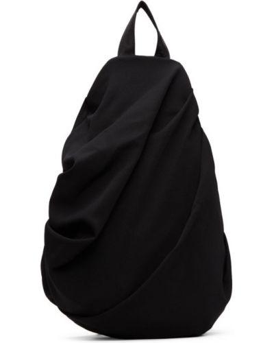 Skórzany plecak czarny srebro Yohji Yamamoto