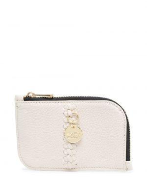 Bawełna skórzany portfel złoto See By Chloe
