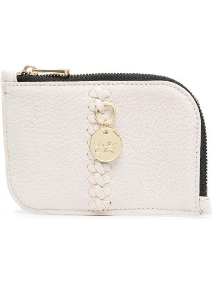 Beżowy portfel skórzany See By Chloe