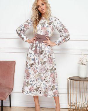 Платье миди с поясом платье-сарафан Leleya
