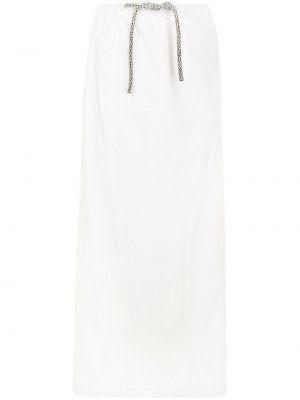 Хлопковая юбка макси - белая Christopher Esber