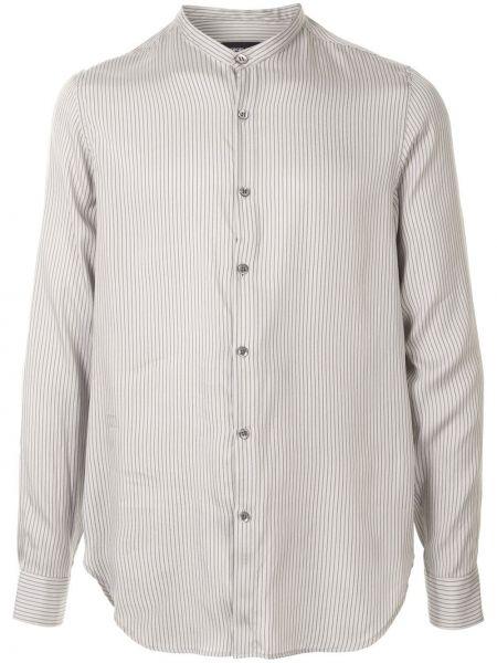 Koszula z długim rękawem w paski jedwab Giorgio Armani