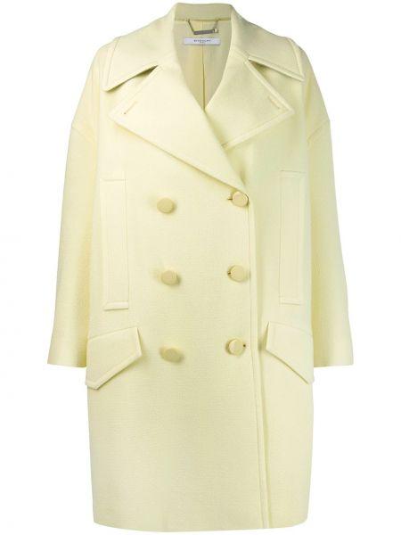 Кашемировое длинное пальто с капюшоном двубортное Givenchy