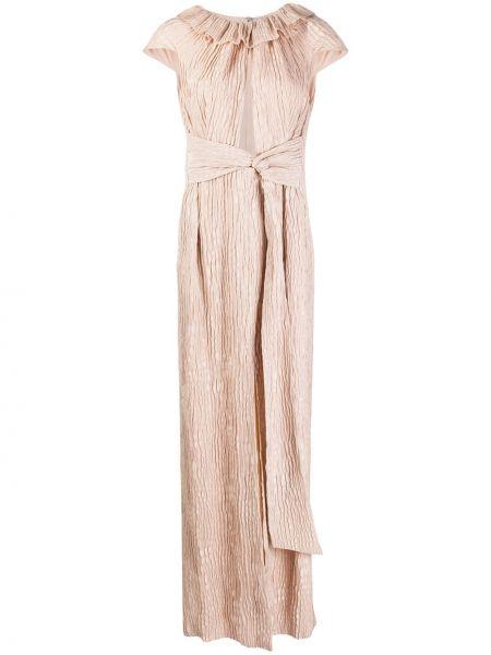 Sukienka długa z jedwabiu Roland Mouret