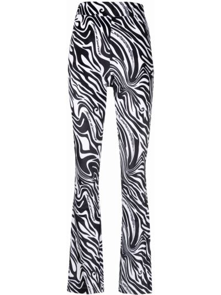 Białe spodnie z printem Juicy Couture