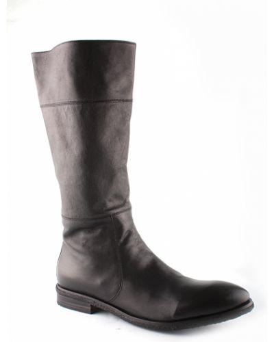 Черные кожаные сапоги Gianfranco Butteri
