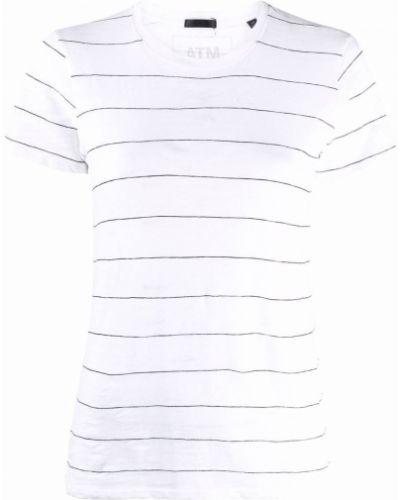 Biała koszulka krótki rękaw Atm Anthony Thomas Melillo