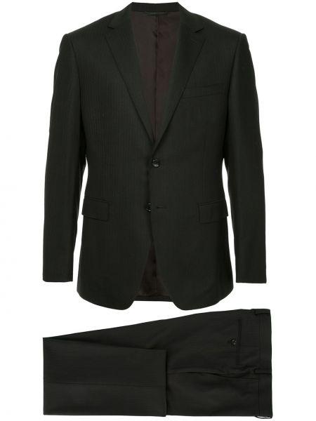 Шерстяной черный костюмный костюм деловой D'urban