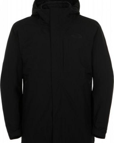 Черная куртка мембранная на синтепоне The North Face
