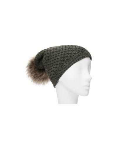 Вязаная шапка кашемировая зеленый La Neve