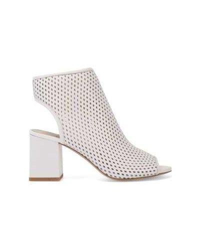 Кожаные белые кожаные туфли на каблуке Ekonika