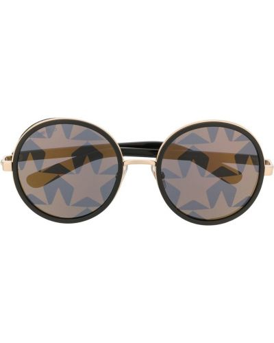 Черные солнцезащитные очки круглые металлические Jimmy Choo Eyewear
