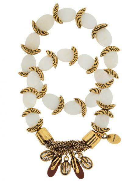 Золотистый желтый браслет металлический Camila Klein