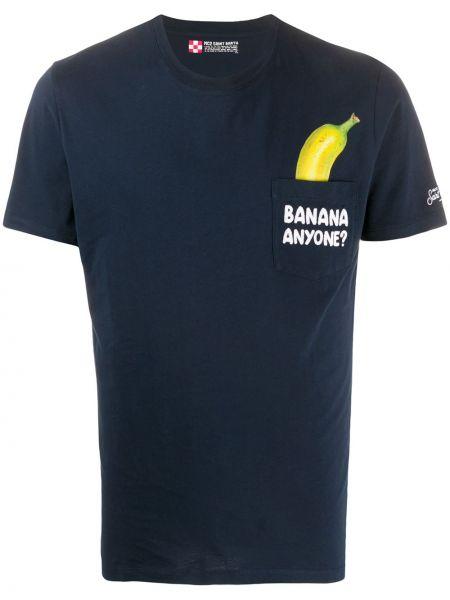 Koszula krótkie z krótkim rękawem z kieszeniami z nadrukiem Mc2 Saint Barth