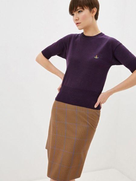 Свитер осенний фиолетовый Vivienne Westwood
