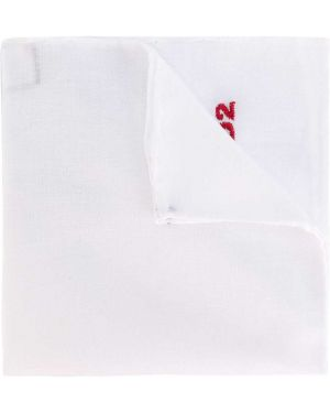 Белый платок с вышивкой Dsquared2